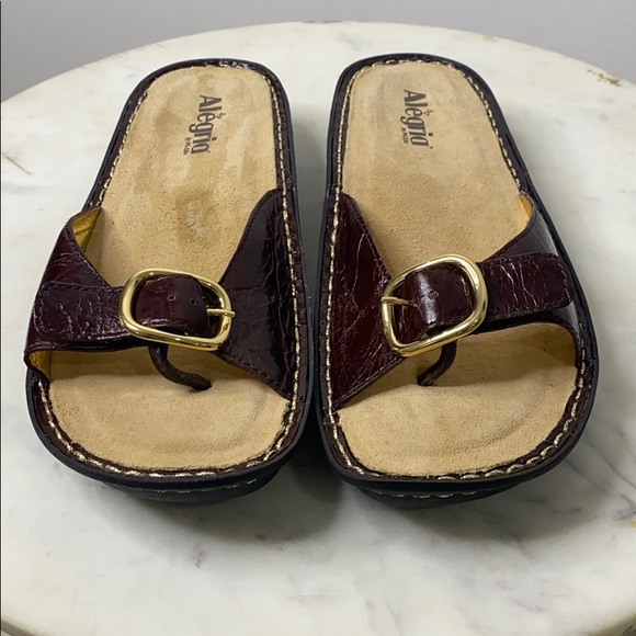 Algeria Mil 102 Leather Slide Thong Sandal size 39